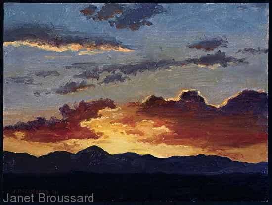 West Texas Sunset by  Janet Broussard - Masterpiece Online