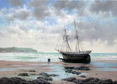 Waiting for the Tide by  Vasily Gribennikov - Masterpiece Online