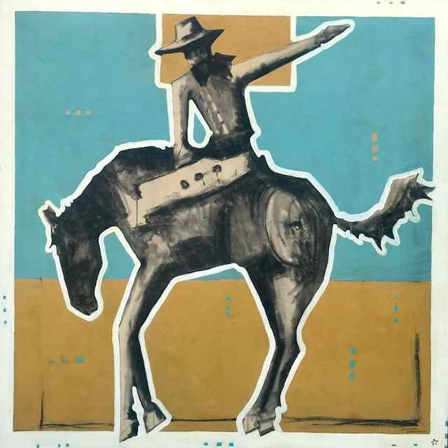 Rider Under Blue Sky ... by  Michael Swearngin - Masterpiece Online
