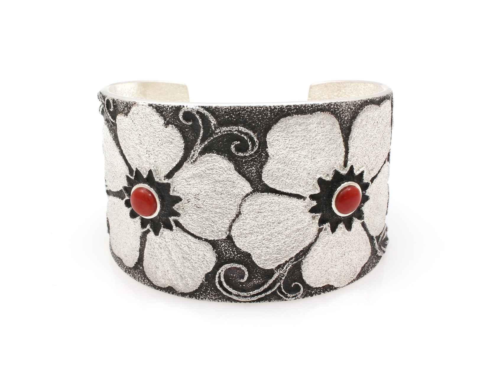 Wide Floral Cuff Brac... by Mr. Darryl Dean & Rebecca Begay - Masterpiece Online