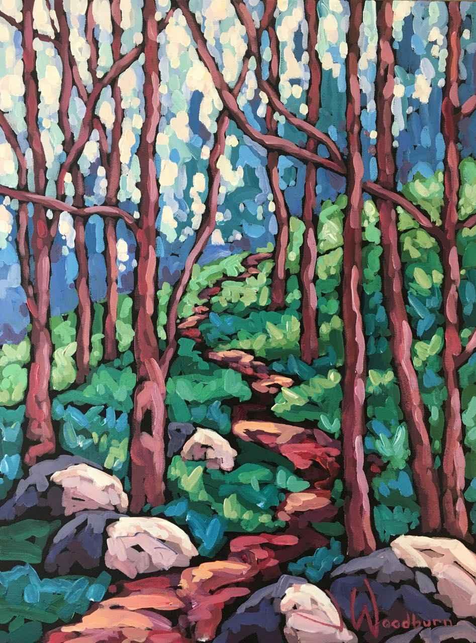 Forest Climb by Ms Jennifer Woodburn - Masterpiece Online
