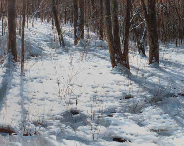 Snowy Clearing - Afte... represented  by  Michael Wheeler