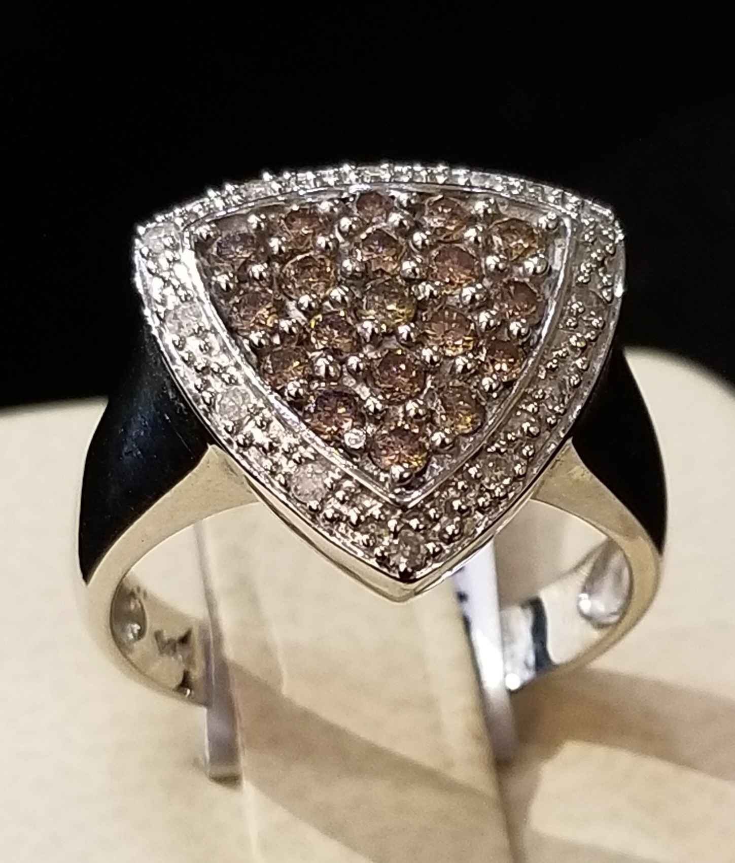 Diamond Triangle Ring... by  My Jeweler - Masterpiece Online