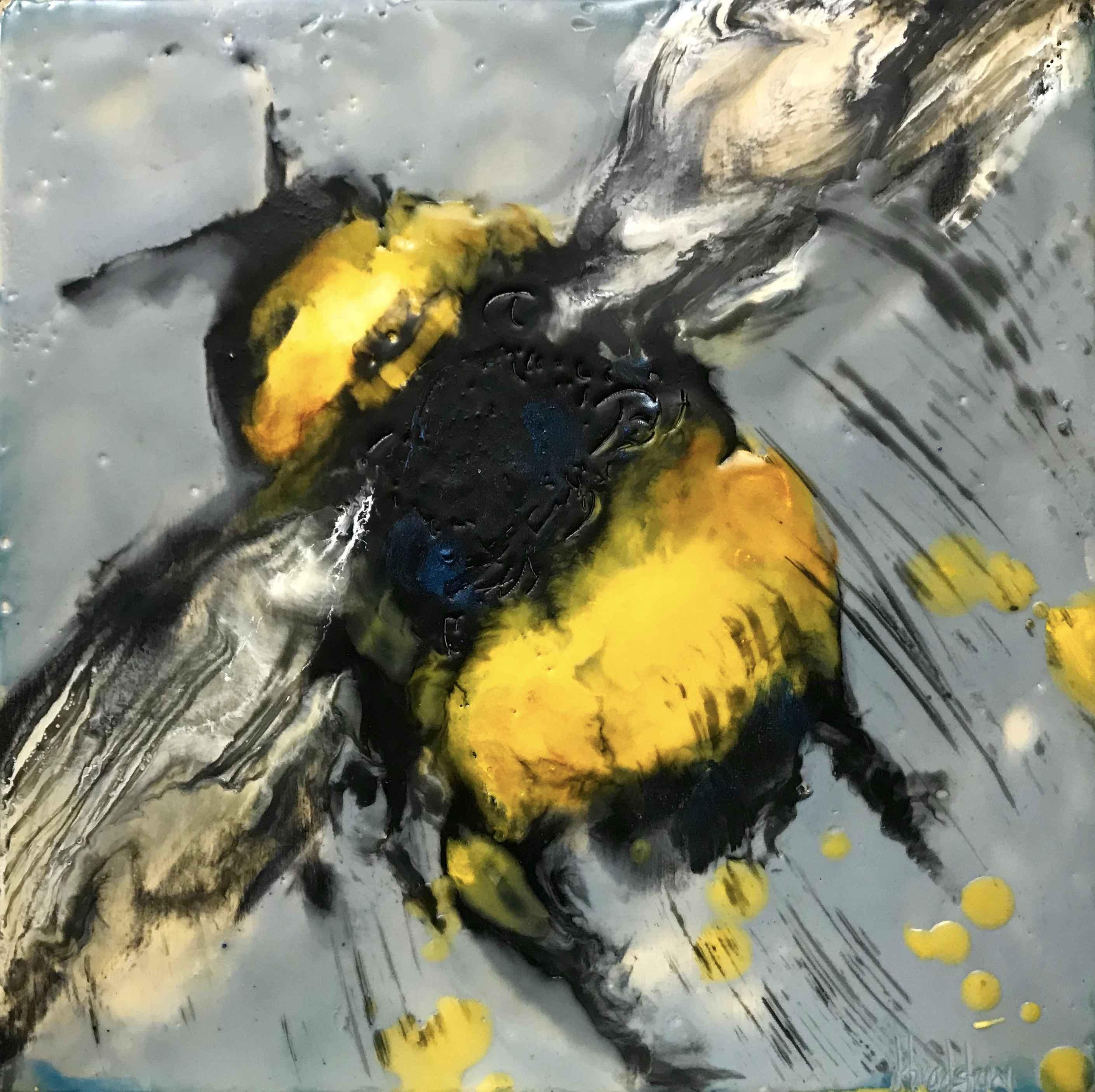 Blue Bee II by  Kathy Bradshaw - Masterpiece Online