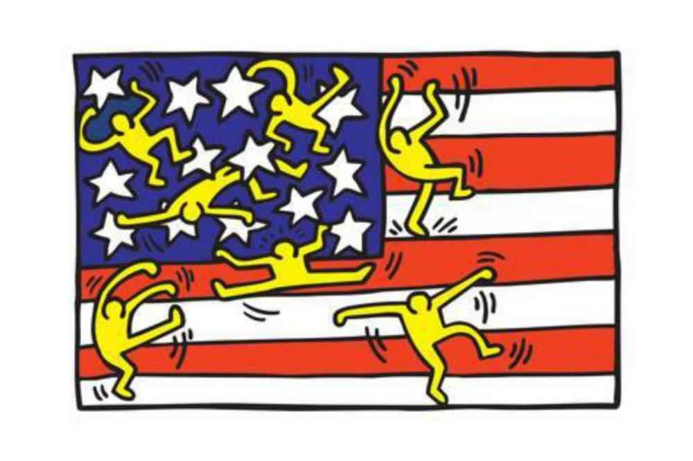 American Flag Poster by  Keith Haring - Masterpiece Online