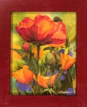 Jardin de L Artiste #1 by  Nancy Cawdrey - Masterpiece Online