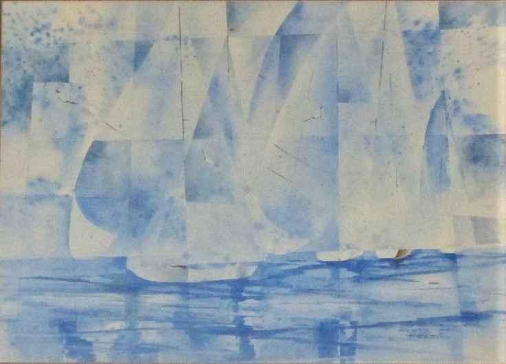 Untitled ( Sailboats) by  Richard Hazelton - Masterpiece Online