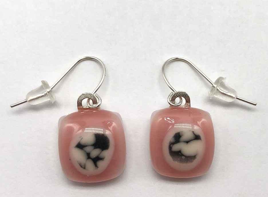 Bitty Earrings Pink/Gray