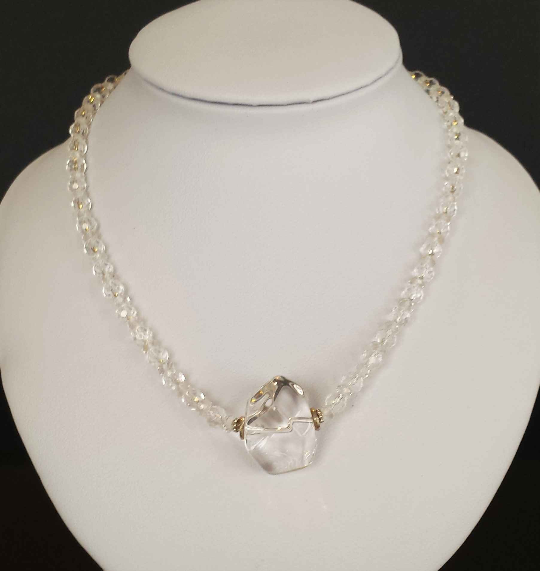 Faceted Rock Crystal ... by Ms. Nancy Going - Masterpiece Online