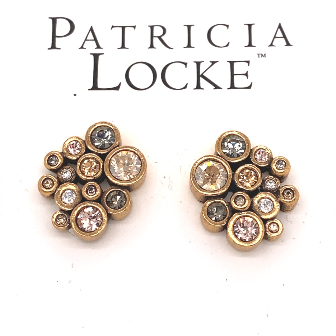 Radiance Clip Earrings in Gold, Champagne