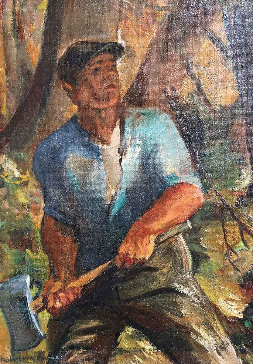 Untitled - Lumberjack... by Mr. Robert von Neumann - Masterpiece Online
