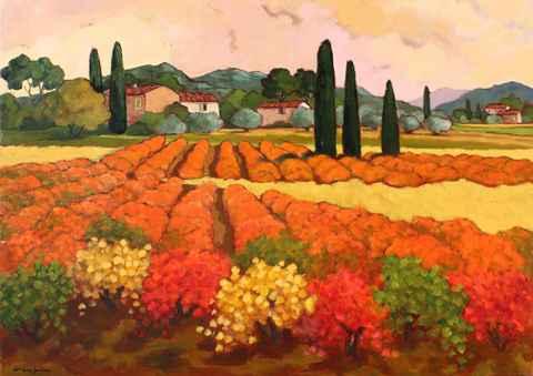 Le mas aux Vignes Ora... by  Lorraine  Jordan - Masterpiece Online