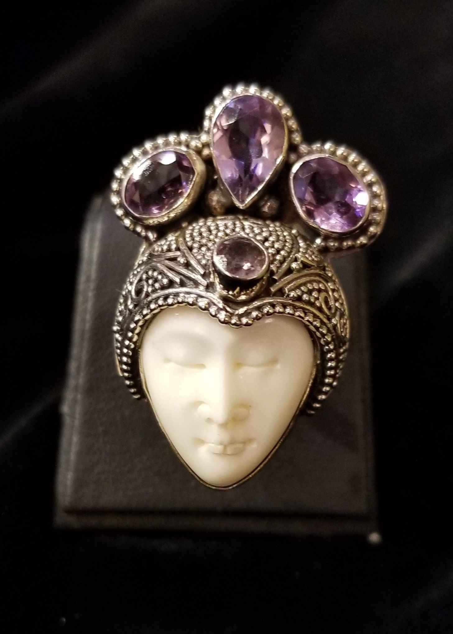 Ring - SS Amethyst & ... by  Gallery Pieces - Masterpiece Online