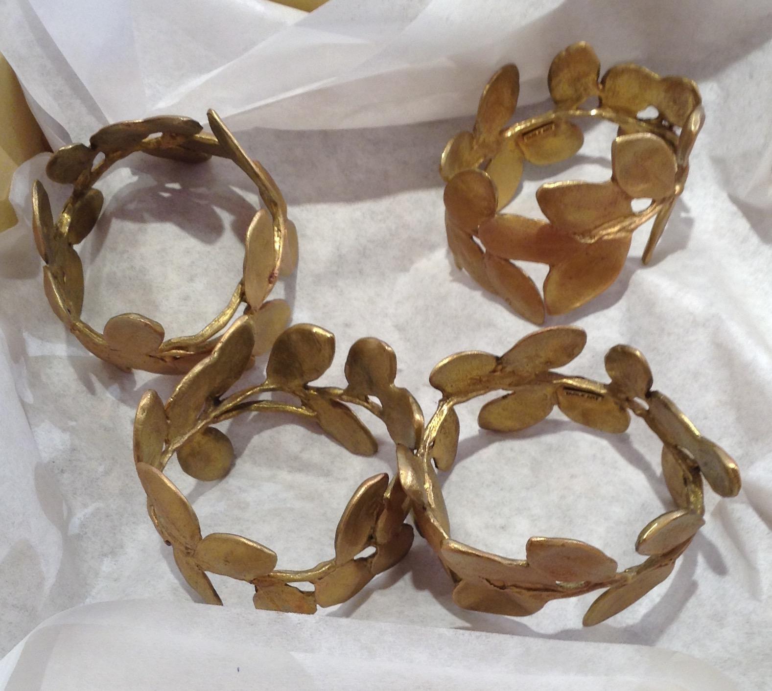 Boxwood Napkin Rings - Gold