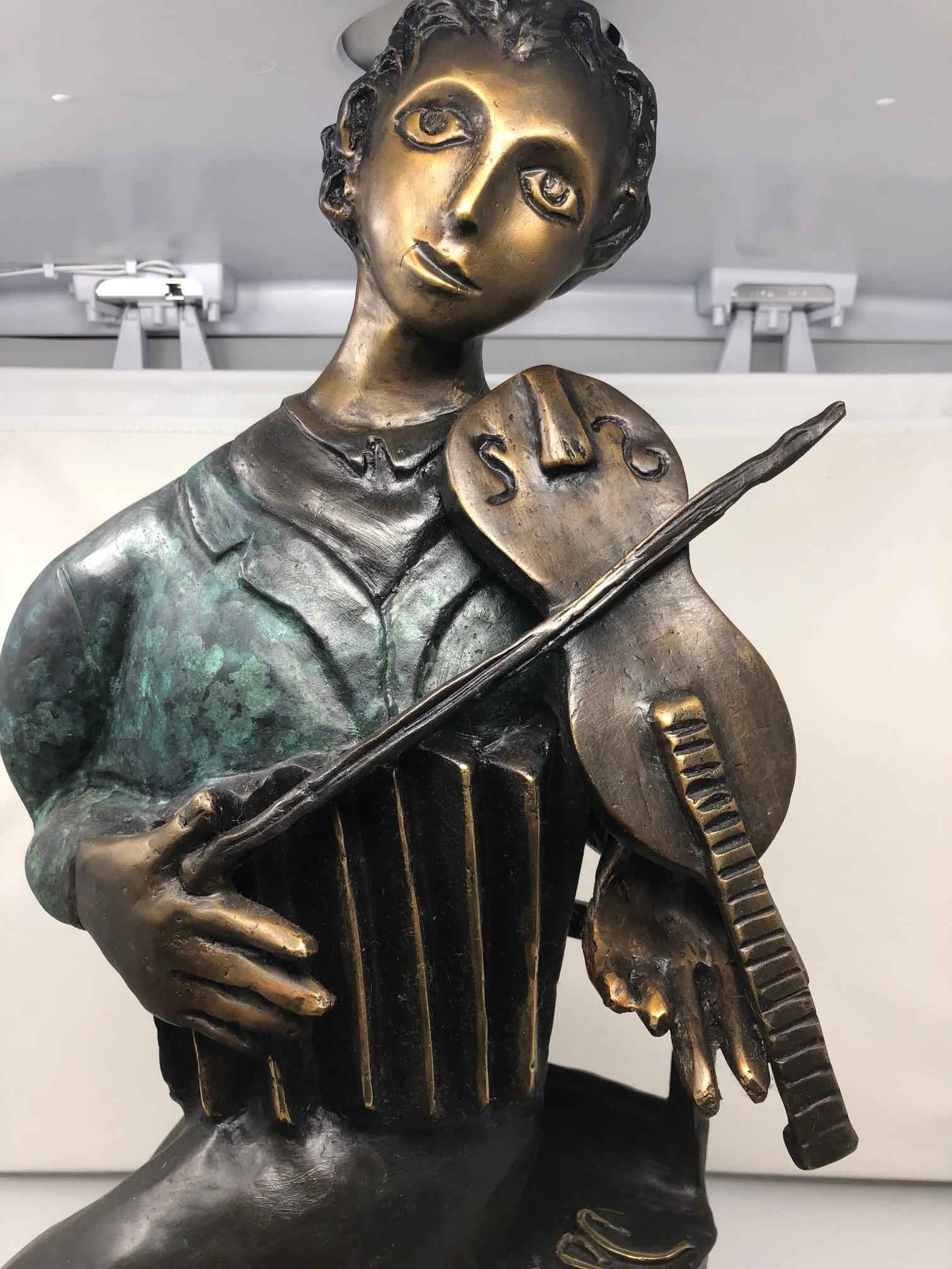 The Violinist Sculp... by  Marc Chagall - Masterpiece Online
