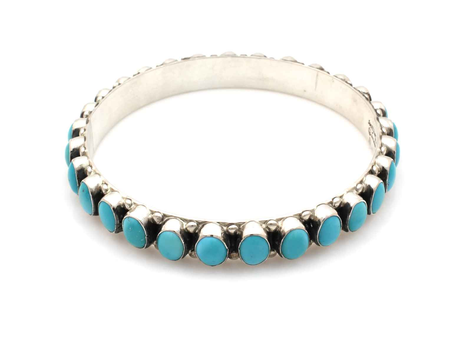 Turquoise Row Bangle ... by  Don Lucas - Masterpiece Online