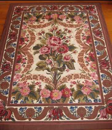 Rug, Needlepoint, flo... by   Unknown - Masterpiece Online
