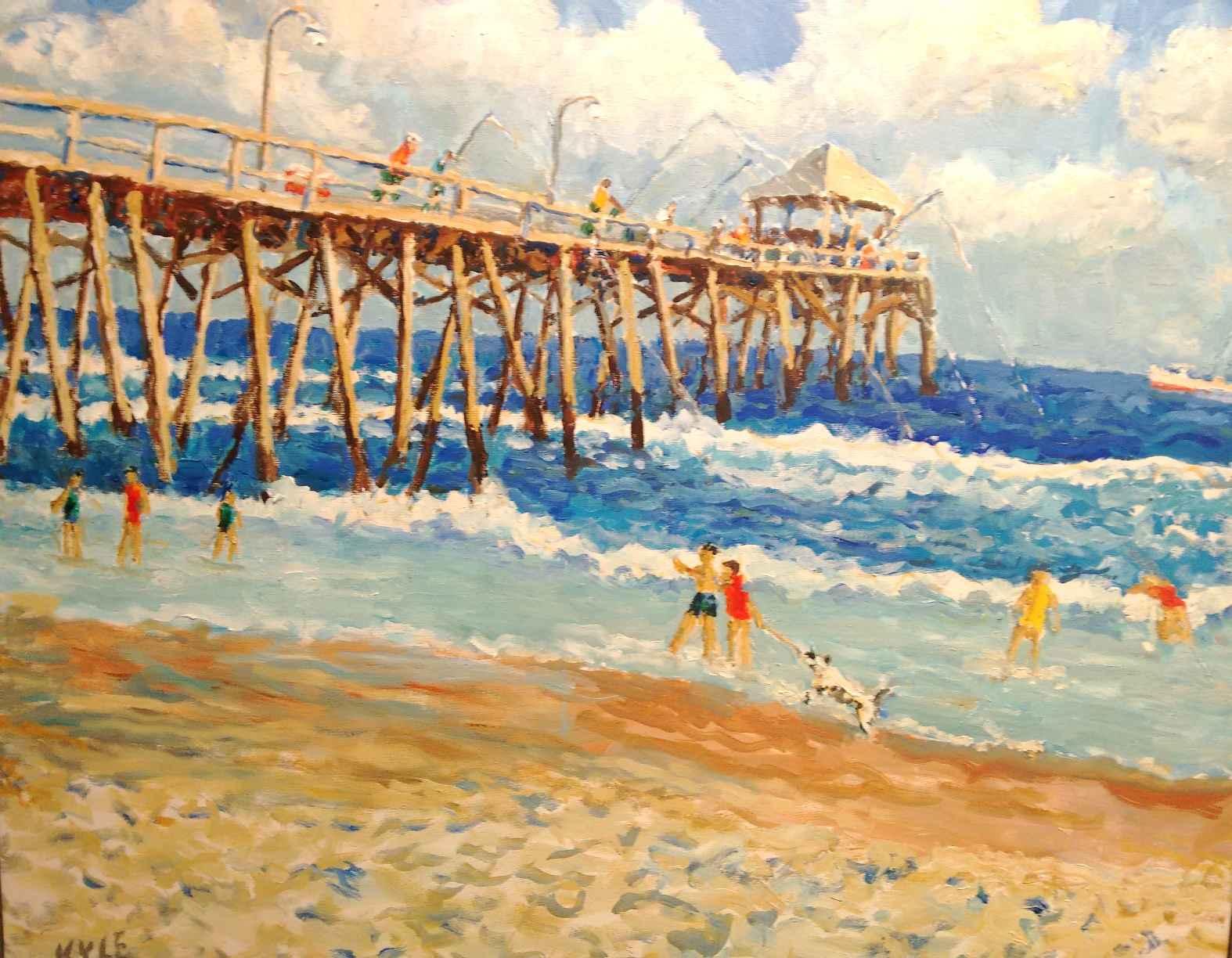 Oceanana Pier, Low Ti... by  Kyle Highsmith - Masterpiece Online