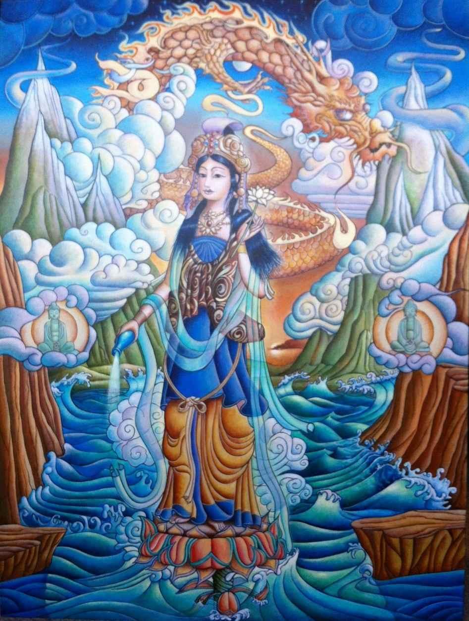 Quan Yin New Dawn by  Matthew Smith - Masterpiece Online