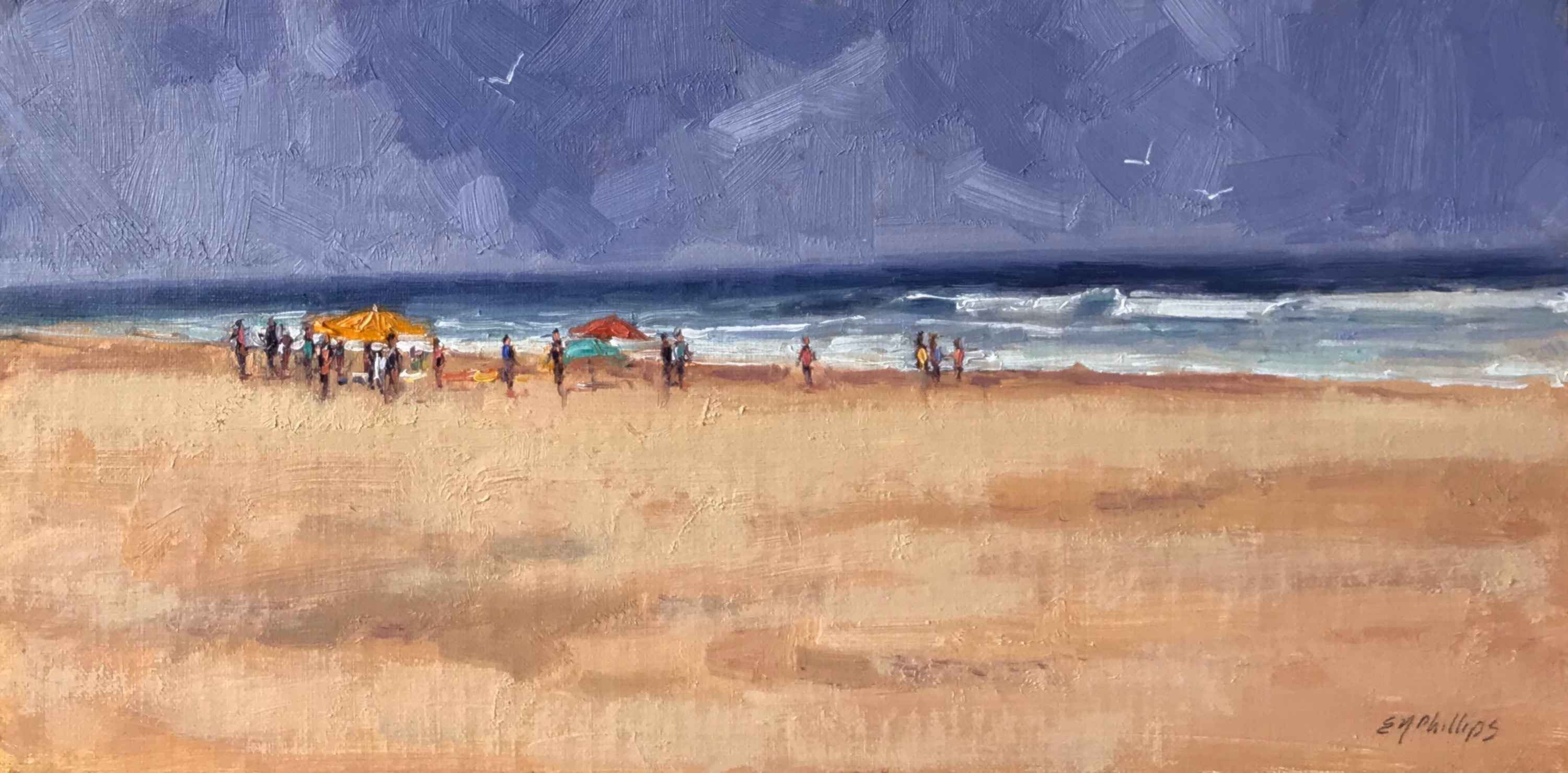 At the Beach by  Elise Phillips - Masterpiece Online
