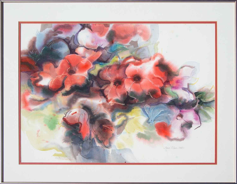 Jane Rider - Petunias...  by  Resale Gallery