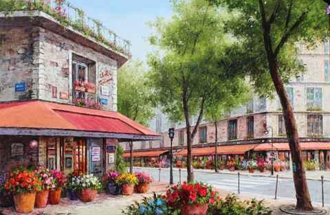 Flower Street  by  Soon Ju Choi