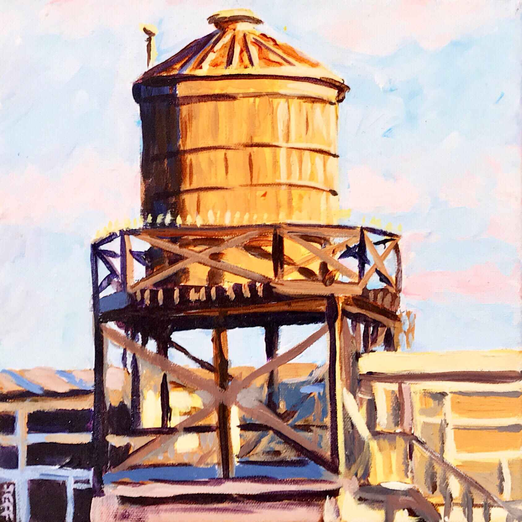 Koret Water Tower by  Jeff Wilson - Masterpiece Online