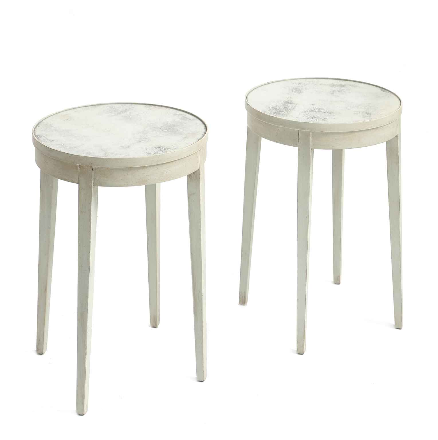 Pair Painted Accent T... by  Swedish  - Masterpiece Online