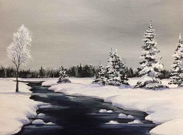 Winter's Stream by  Janet Liesemer - Masterpiece Online