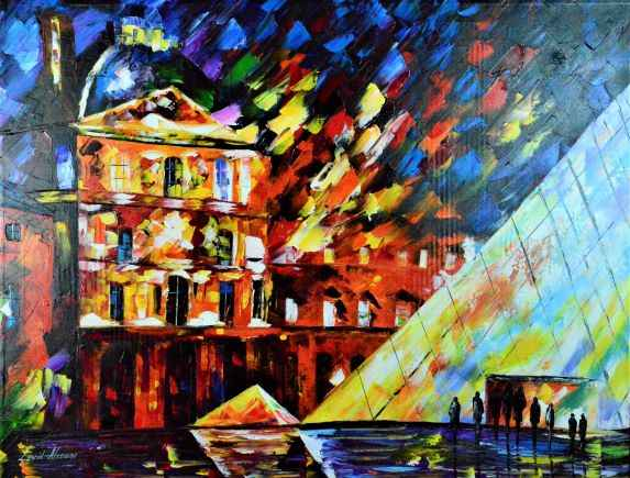 The Louvre represented  by  Leonid Afremov