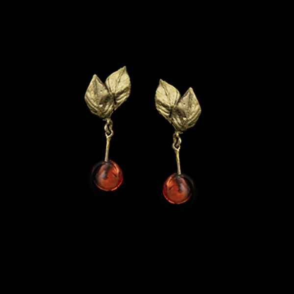 Morello Cherry Single Drop Post Earring