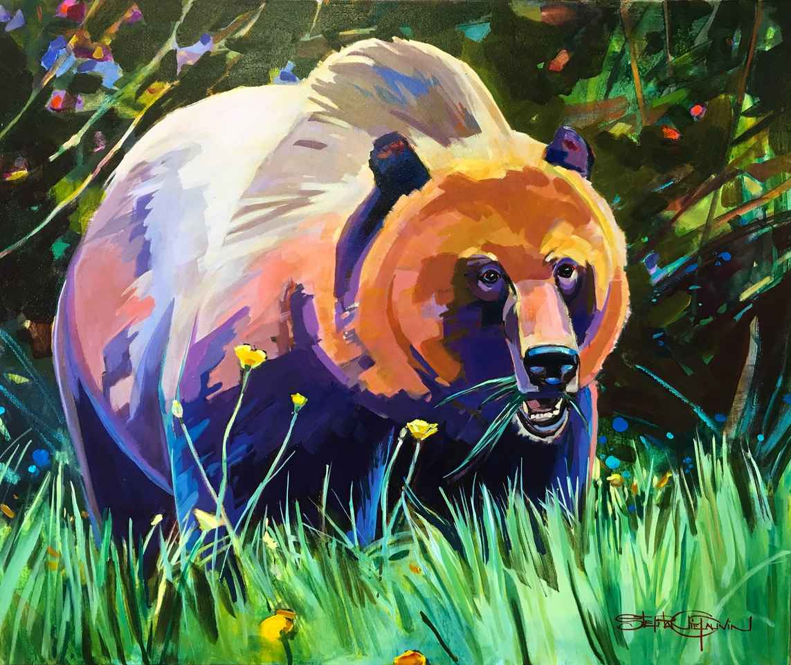 Buttercups and Grizzl... by  Stephanie Gauvin - Masterpiece Online