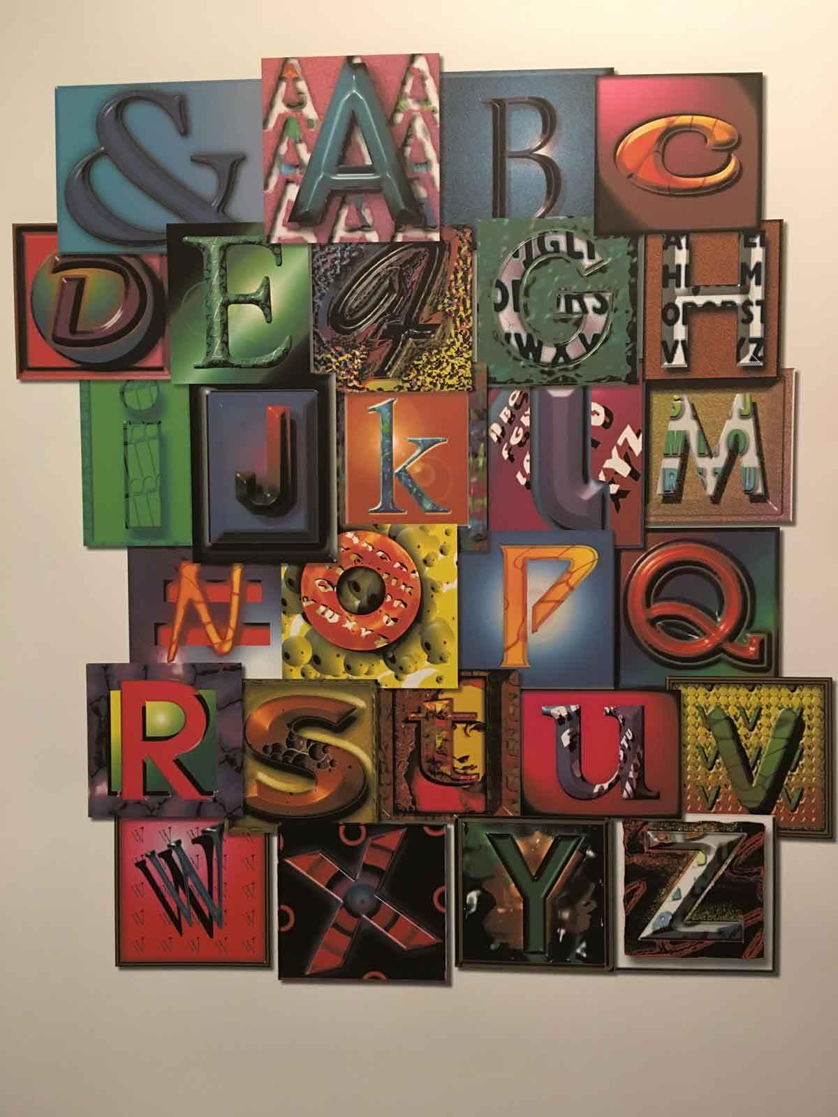 Illuminated Alphabet  by  Hersh Jacob