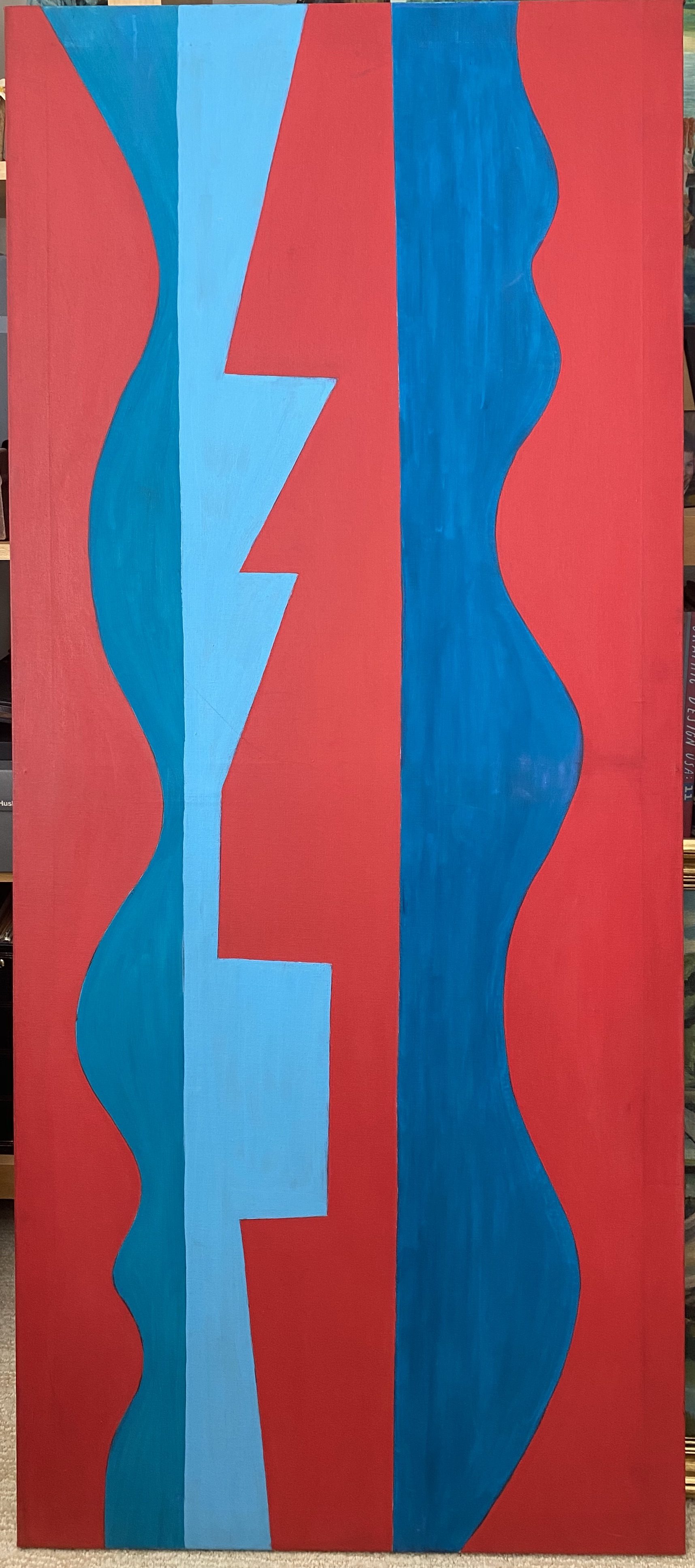 Untitled Red and Blue... by Ms. Lucia Stern - Masterpiece Online