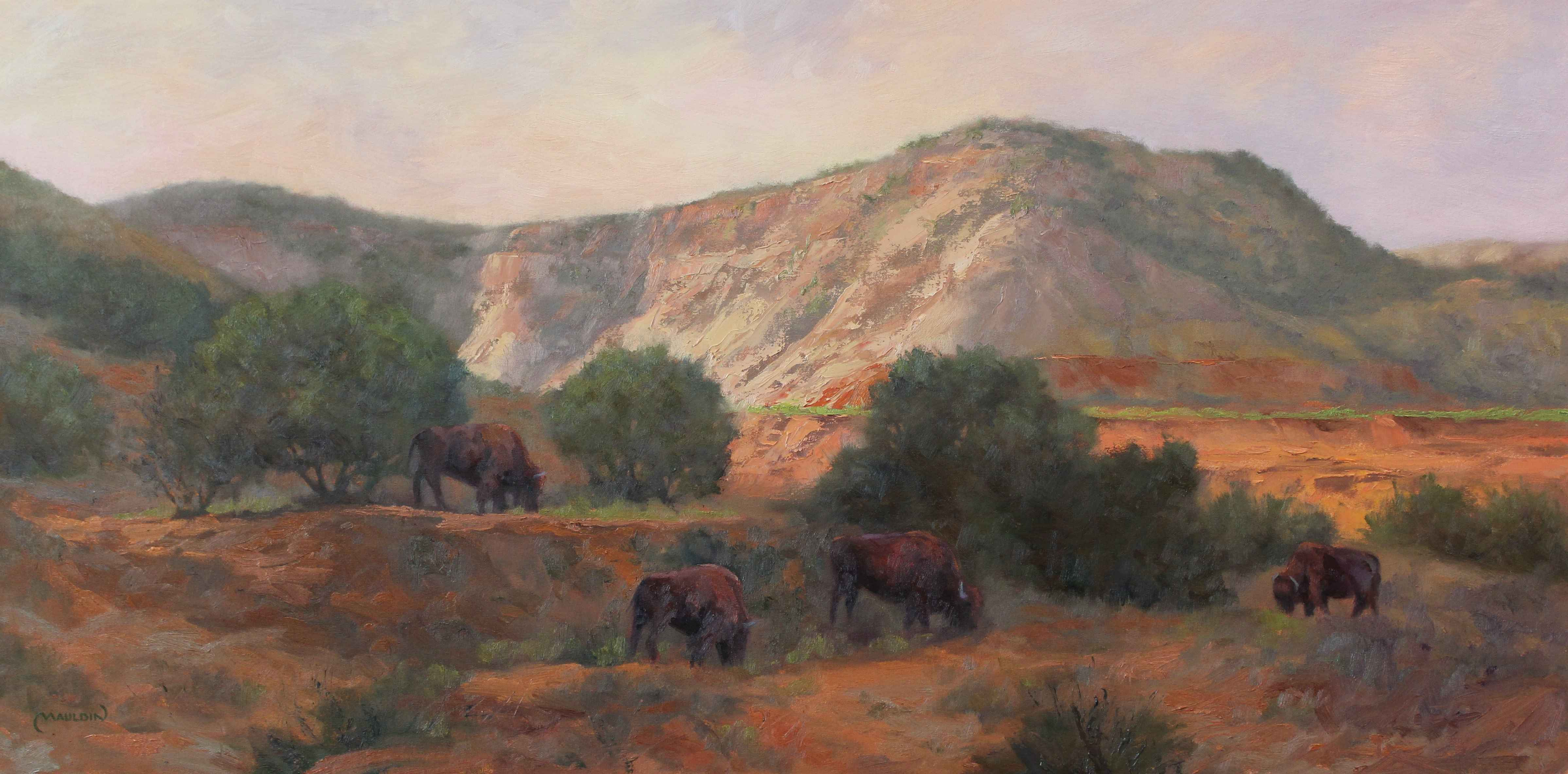 When Bison Roamed the... by  Chuck Mauldin - Masterpiece Online