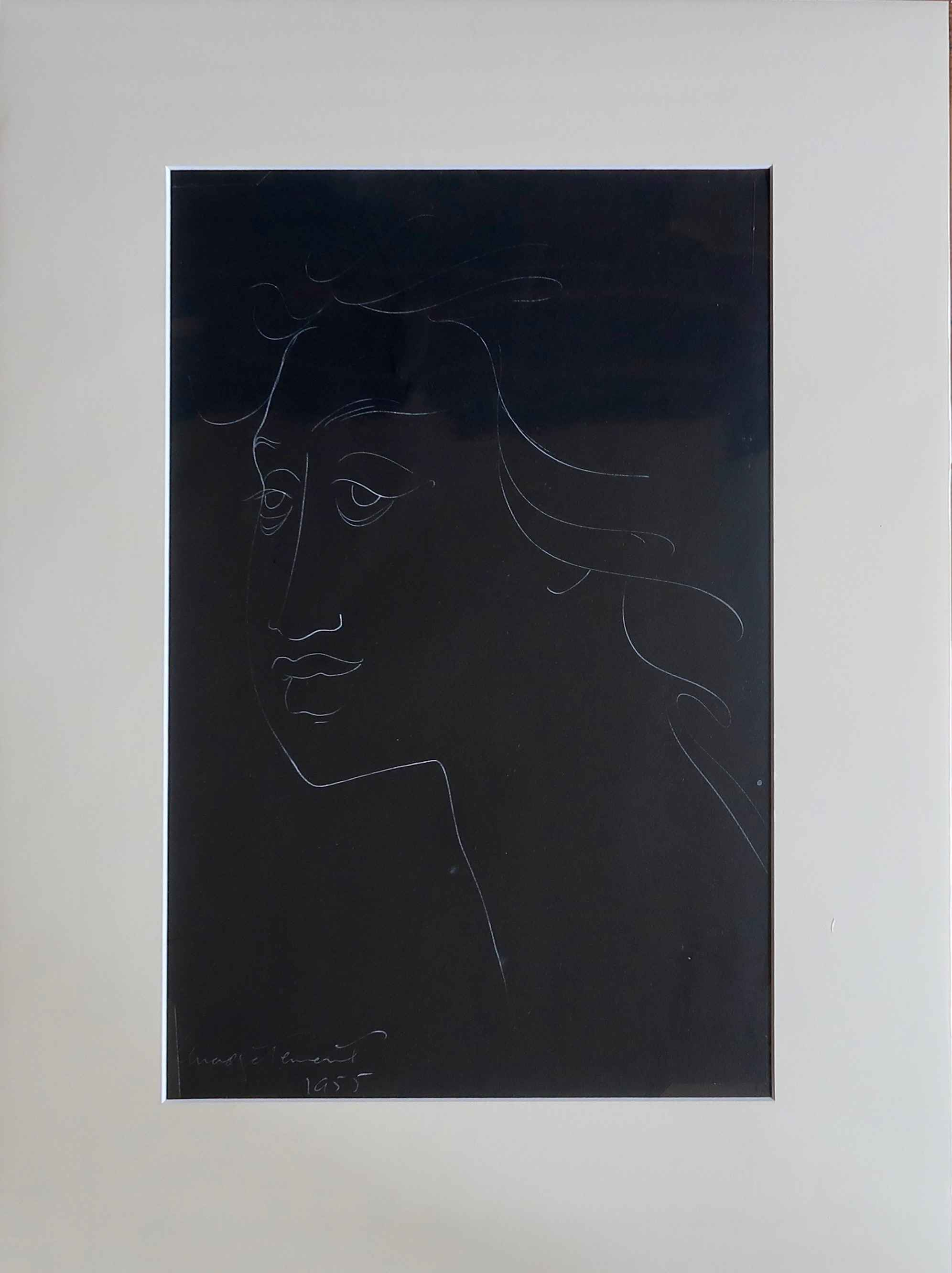 Female Face 1_White i... by  Madge Tennent (1889-1972) - Masterpiece Online