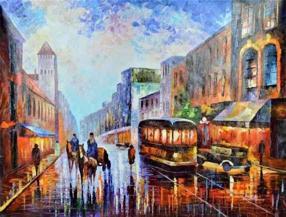Los Angles, 1925  by  Leonid Afremov