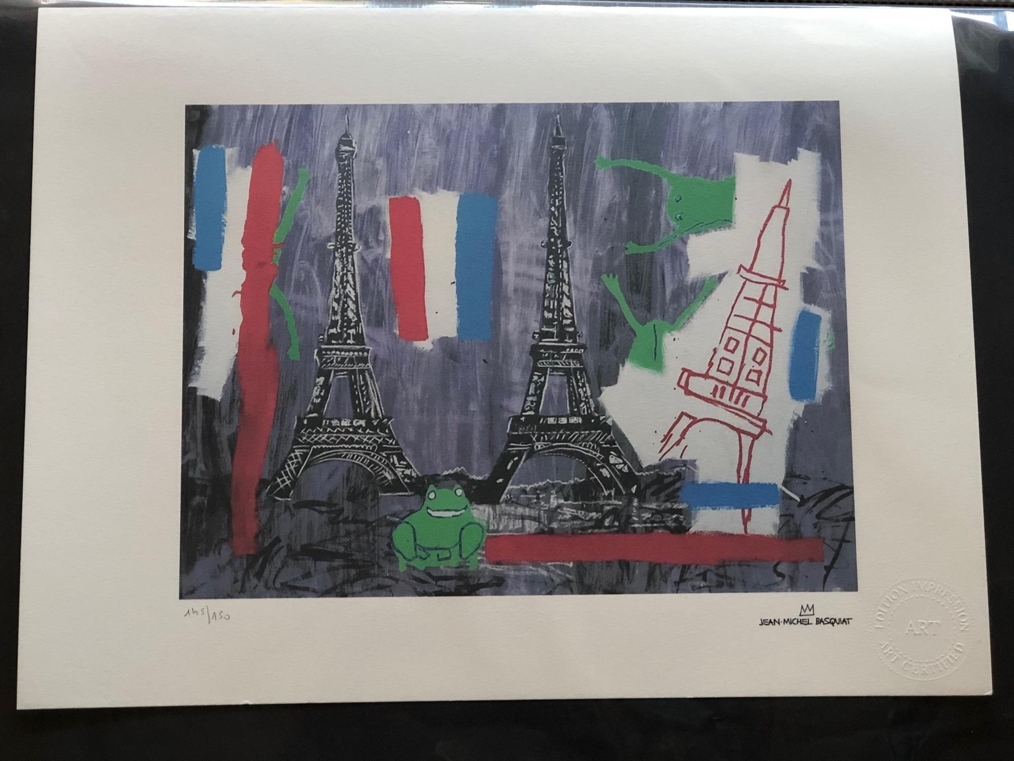 Eiffel Tower by  Jean-Michel Basquiat - Masterpiece Online