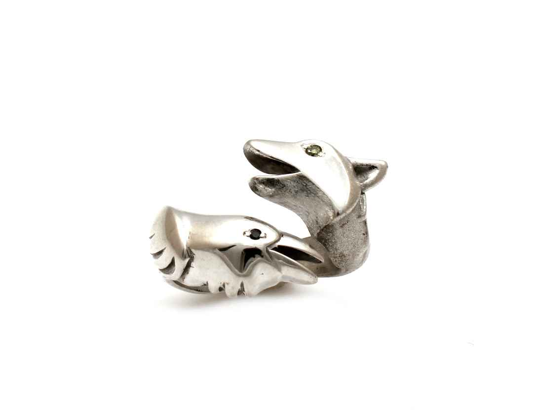 Wolf/Raven Ring With ... by  Michael Tatom - Masterpiece Online
