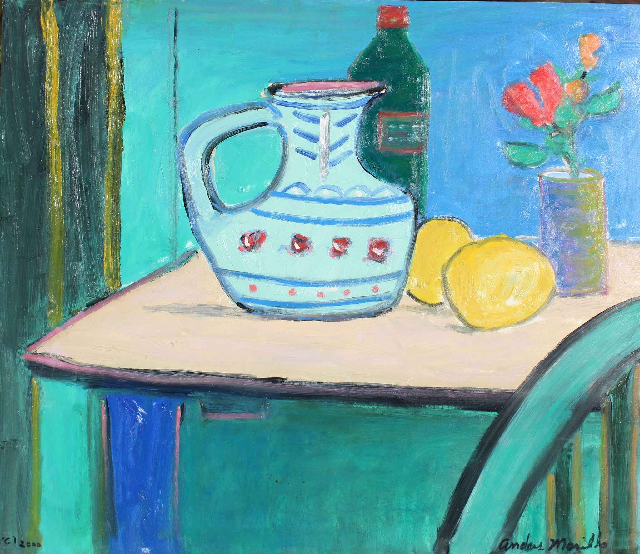 Table With Lemon by  Andres  Morillo - Masterpiece Online