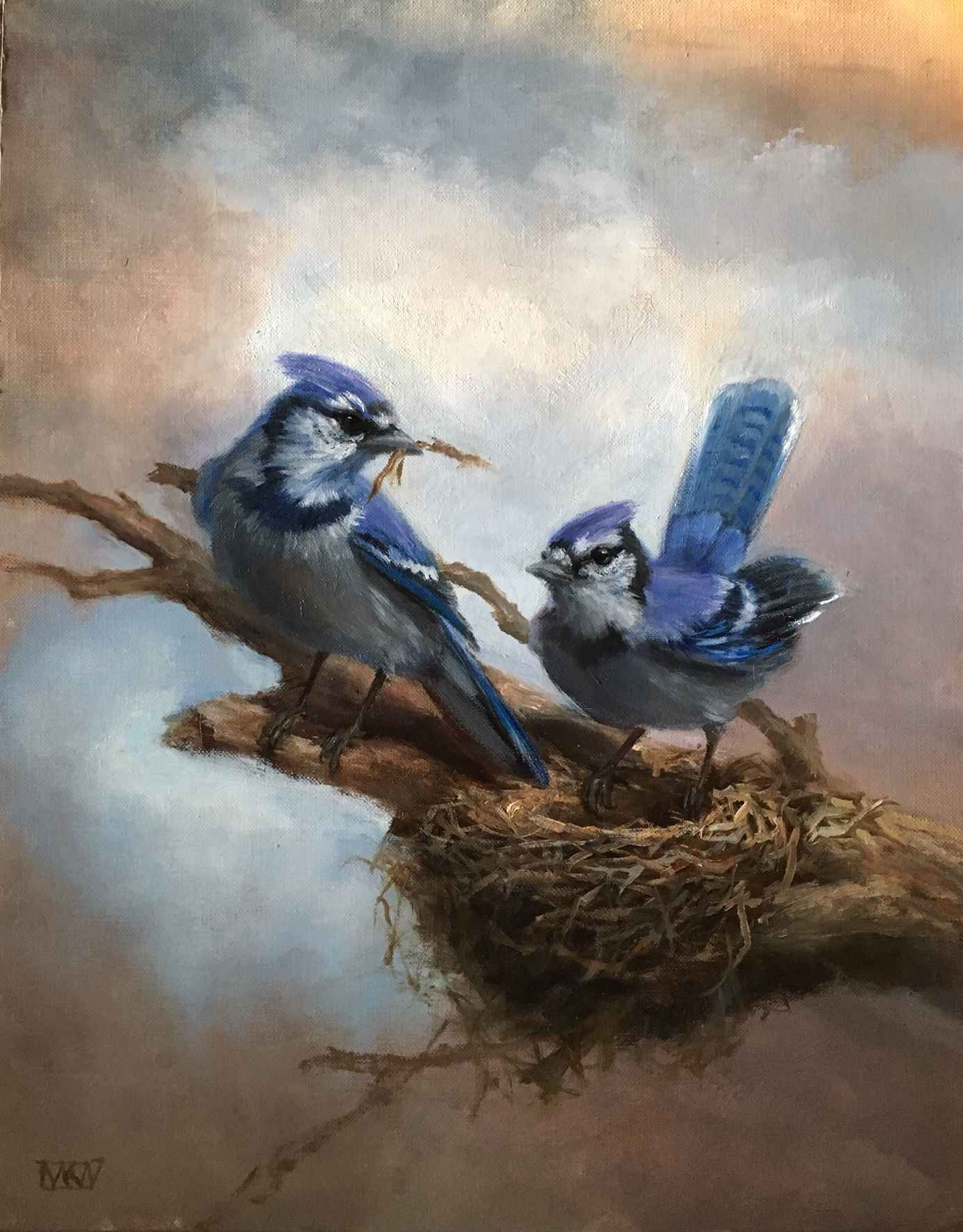 Blue Jays by  Mary Kay  West  - Masterpiece Online