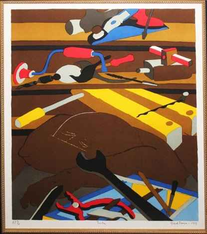 Tools 1977 by  Jacob Lawrence - Masterpiece Online