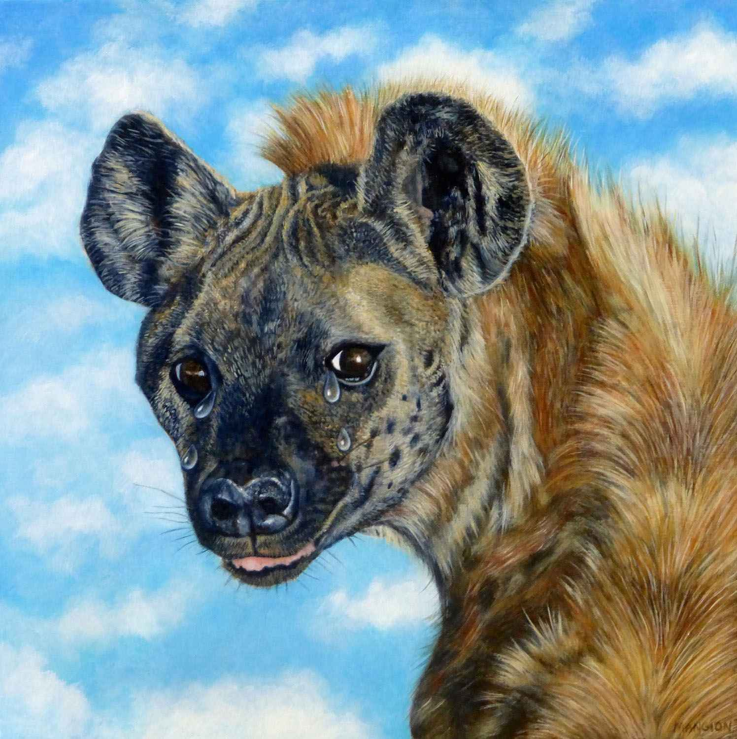 Crying Hyena by  Valerie Mangion - Masterpiece Online