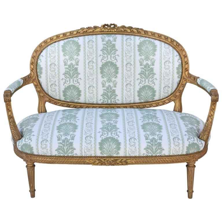 Louis XVI Giltwood Se... by  French  - Masterpiece Online