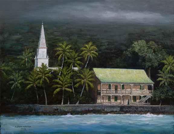 Hulihe'e Palace by  Edwin B. Kayton - Masterpiece Online