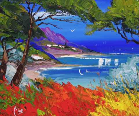 Calm Bay  by  Louis  Magre