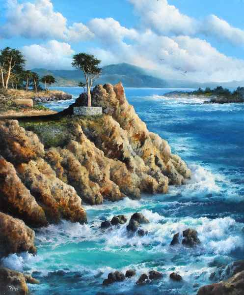 The Lone Cypress by   Dy'Ans  - Masterpiece Online