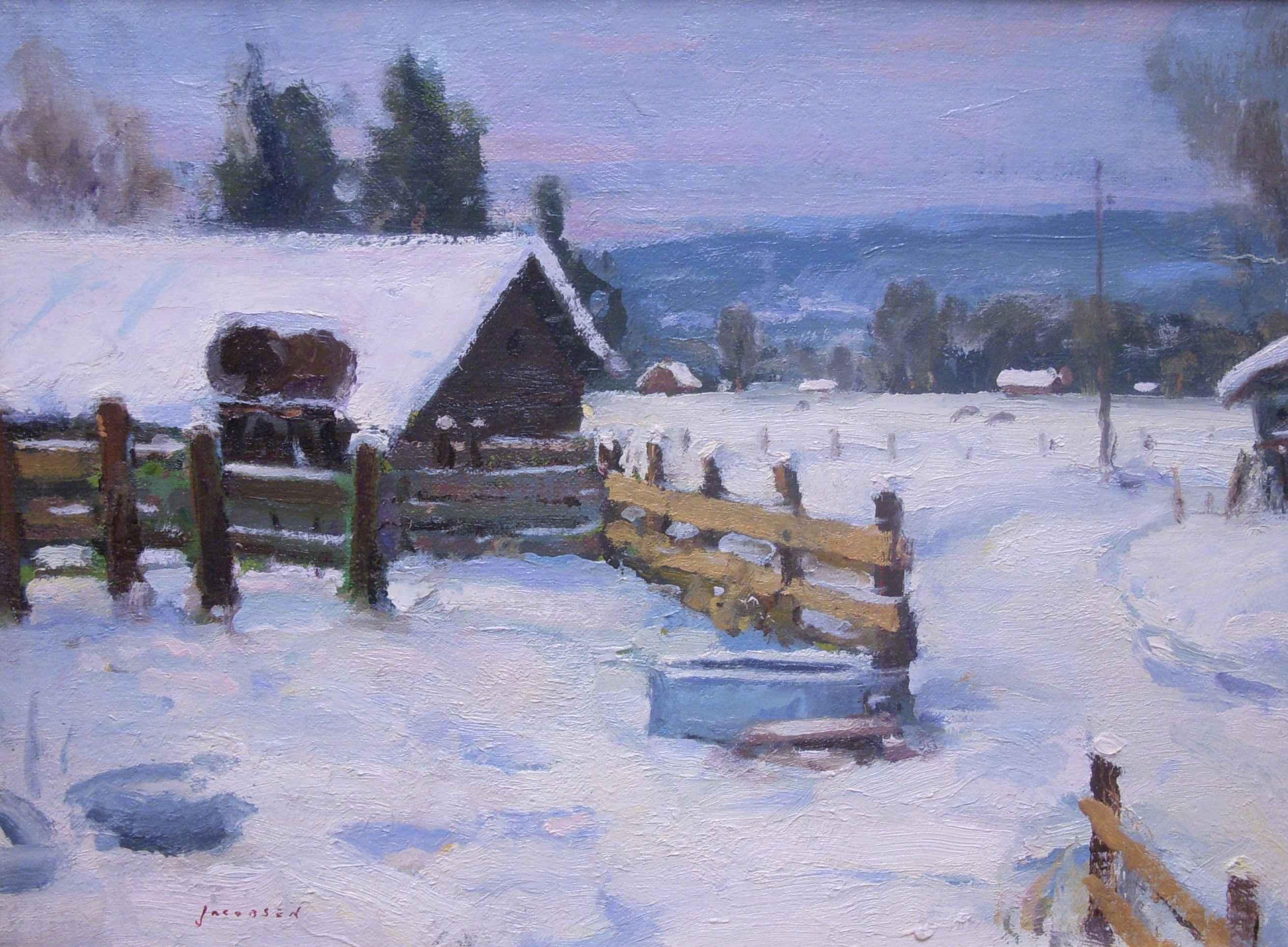 Valdez Ranch in Winter by  Eric Jacobsen - Masterpiece Online