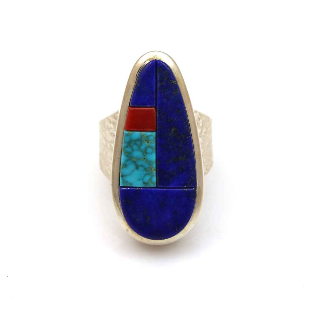 Lapis Inlay Ring by  Chris Pruitt - Masterpiece Online