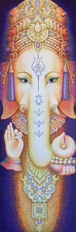 Visit from Ganesha by  Sherab (Shey) Khandro - Masterpiece Online